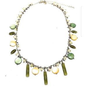 Lia Sophia Seagrass 2 PC SET Necklace Earrings